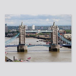 Tower Bridge, Thames River, London, 5'x7'Area Rug