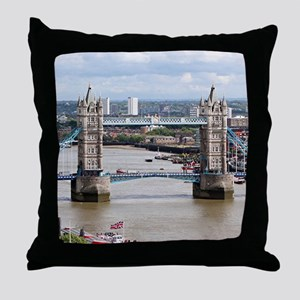 Tower Bridge, Thames River, London, E Throw Pillow