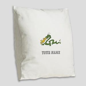 Dragon (Custom) Burlap Throw Pillow