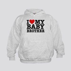 I Love My Baby Brother Kids Hoodie