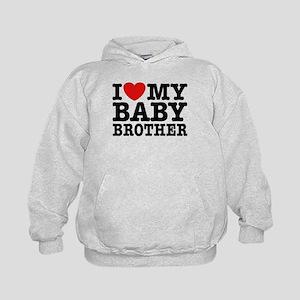 I Love My Baby Brother Kids Hoodie