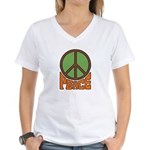 Peace Women's V-Neck T-Shirt