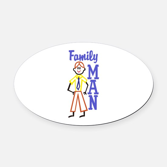 Family Man Oval Car Magnet