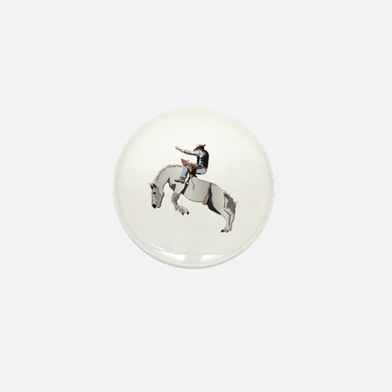 Bronc Rider Mini Button