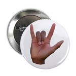 I Love You ILY Hand Button