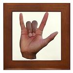 I Love You ILY Hand Framed Tile