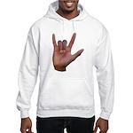 I Love You ILY Hand Hooded Sweatshirt
