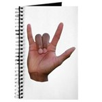 I Love You ILY Hand Journal