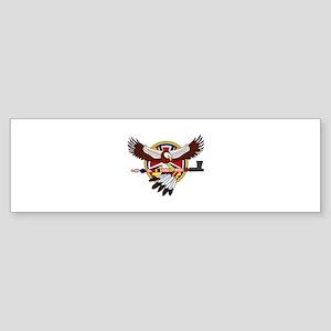 Native American eagle Bumper Sticker