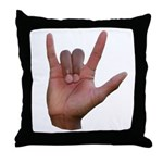 I Love You ILY Hand Throw Pillow