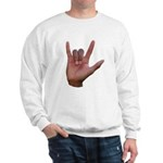 I Love You ILY Hand Sweatshirt