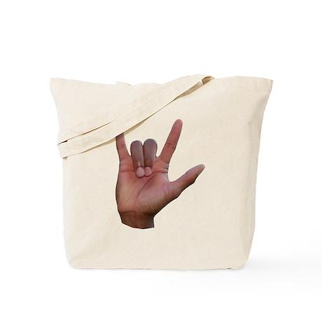 I Love You ILY Hand Tote Bag