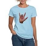 I Love You ILY Hand Women's Light T-Shirt