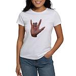 I Love You ILY Hand Women's T-Shirt