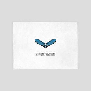 Blue Eagle (Custom) 5'x7'Area Rug