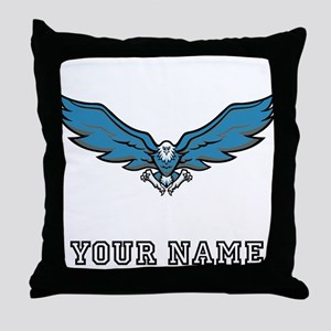 Blue Eagle (Custom) Throw Pillow