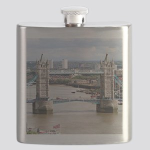 Tower Bridge, Thames River, London, England Flask