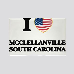 I love Mcclellanville South Carolina Magnets