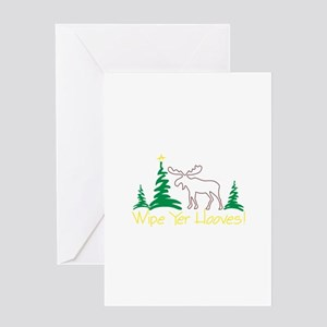 Wipe Yer Hooves! Greeting Cards