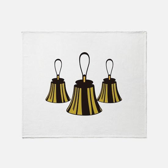 Three Handbells Throw Blanket