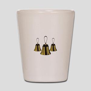 Three Handbells Shot Glass