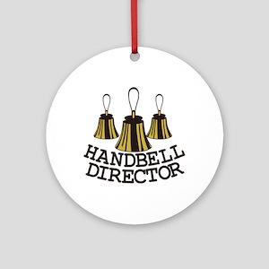 Handbell Director Ornament (Round)