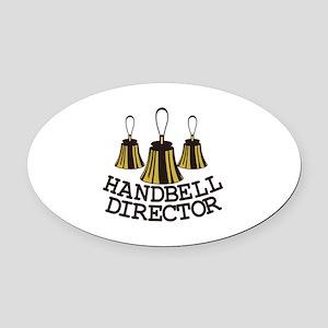 Handbell Director Oval Car Magnet