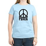 Peace Sign Women's Pink T-Shirt