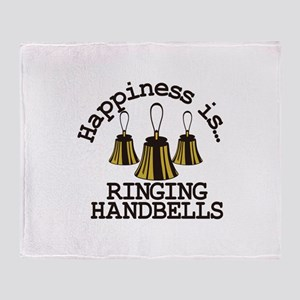 Happiness is Ringing Throw Blanket
