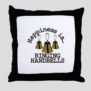Happiness is Ringing Throw Pillow