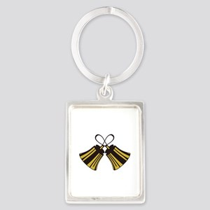 Crossed Handbells Keychains