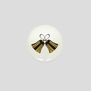 Crossed Handbells Mini Button