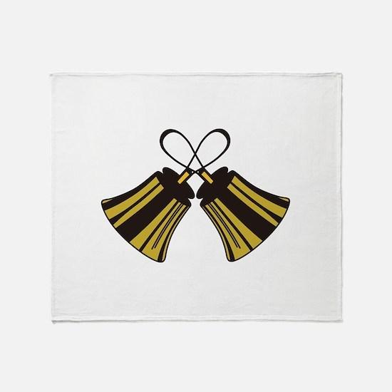 Crossed Handbells Throw Blanket