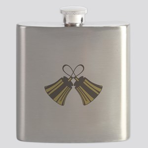 Crossed Handbells Flask