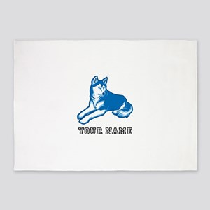 Blue Wolf (Custom) 5'x7'Area Rug