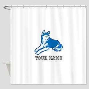 Blue Wolf (Custom) Shower Curtain