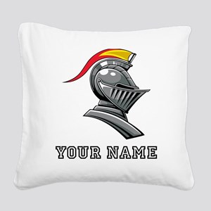 Medieval Soldier Helmet (Custom) Square Canvas Pil