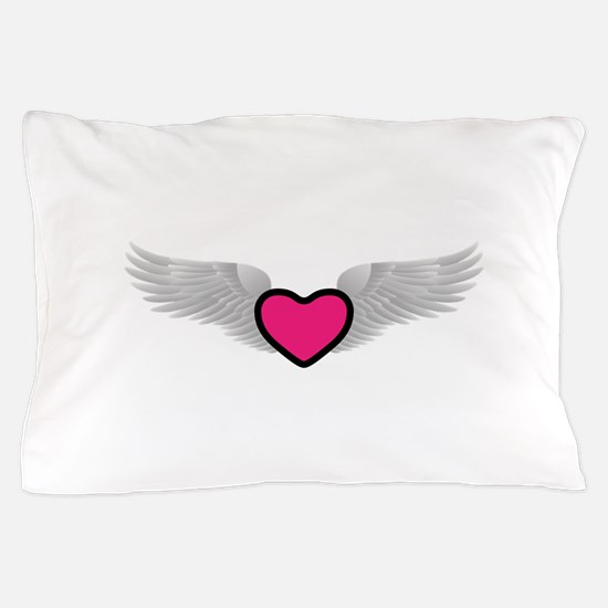 Winged Heart Pillow Case