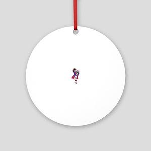 Bagpiper Ornament (Round)