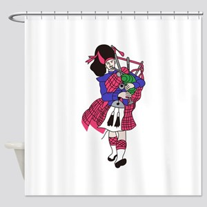 Bagpiper Shower Curtain