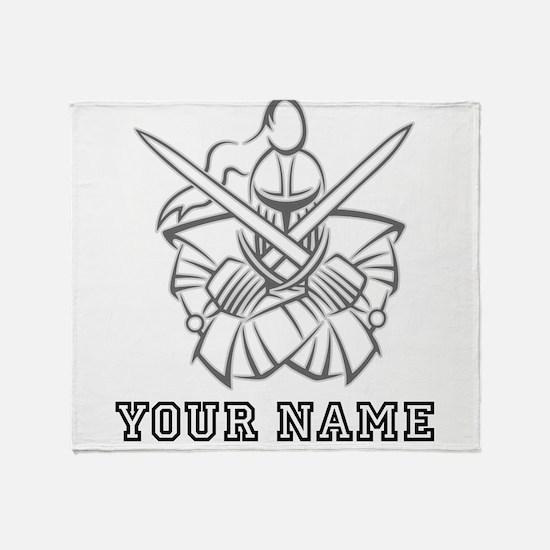 Medieval Knight (Custom) Throw Blanket