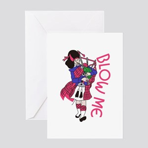 Blow Me Greeting Cards