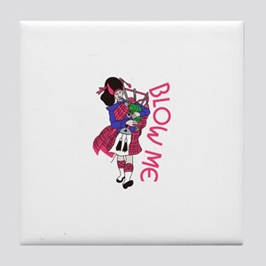 Blow Me Tile Coaster