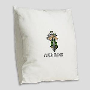 Scottish Warrior (Custom) Burlap Throw Pillow