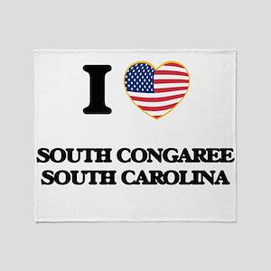 I love South Congaree South Carolina Throw Blanket
