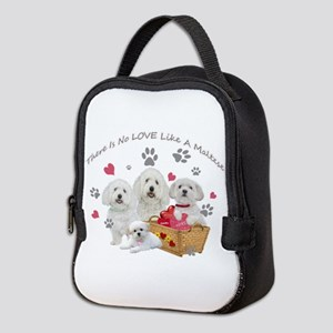 No Love Like A Maltese Neoprene Lunch Bag