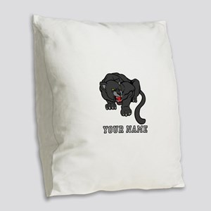 Black Panther (Custom) Burlap Throw Pillow