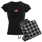 Us Flag Patriotic Us Women's Dark Pajamas