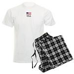 Us Flag Patriotic American Men's Light Pajamas