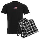 Us Flag Patriotic Men's Dark Pajamas